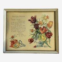 Vintage Mother Poem Framed Print Shall I Forget?