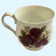 Allyn Nelson Collection Purple Roses Mug Coffee Cup England Fine Bone China