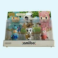 Nintendo Amiibo Animal Crossing Triple Pack KK Slider Cyrus 2015 USA