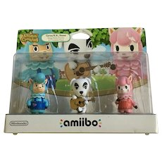 Nintendo Amiibo Animal Crossing Triple Pack KK Slider Cyrus 2015 USA