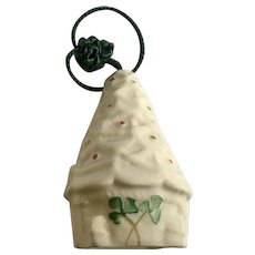 Belleek Christmas Tree Ornament Bell Fine Parian China Ireland
