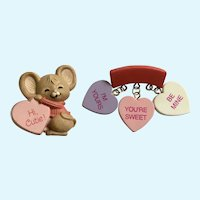 Adorable Valentine's day Pins Gibson Greetings Hallmark Cards