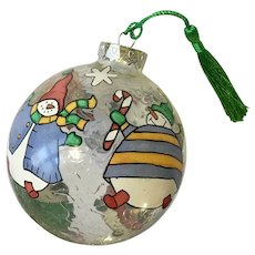 Snowman Christmas Ball Limited Edition Hand Painted