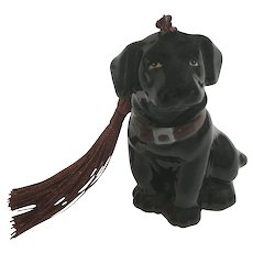 Black Lab Dog Christmas Ornament Big Sky Canine New Tassel Added