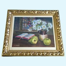 Chuck Gilmore, Open Bible Still Life Pastel Painting Signed by Colorado Artist