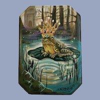 Heather Calderon, The Frog Prince Fairytale, Acrylic Painting on Board
