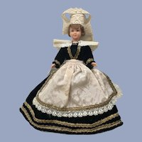 Mid-Century Cathy Marque Déposée Doll Folk Art Dress International 8""