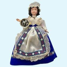 "Mid-Century Cathy Marque Déposée Doll Folk Art Dress International 7"""