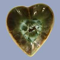 Crystalline Heart Dish Edgecomb Potters Maine
