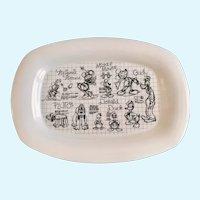 Walt Disney Mickey Mouse Sketchbook 2008 Porcelain Plate