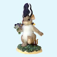 Charming Tales Enesco Bride of Franken-Mouse Dean Griff  Halloween Figurine