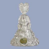 Lead Crystal Bleikristall Heart Collection Bell Germany