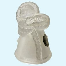 Goebel Angel Girl Flute Player Frosted Clear Glass Bell West Germany