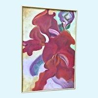Judith Van Buskirk Original Floral Pastel Signed by Artist