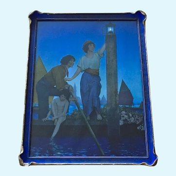 Maxfield Parrish The Venetian Lamplighter Art Deco 1923 Lithograph Print Original Frame 19""