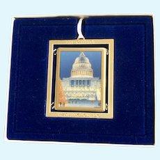 Washington DC US Congressional Holiday Christmas Ornament Capital Building 2008