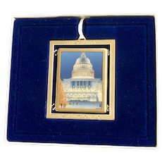 Washington DC US Congressional Holiday Christmas Ornament Capital Building 2008