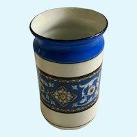 1900's Porcelain Blue Transferware Tumbler Cup Vase