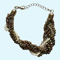 Lovely Beige, Gold and White Bracelet