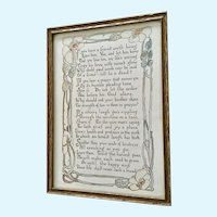 Vintage Framed Poem If You Have a Friend Worth Loving Handmade