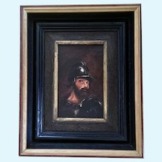 Antonio DeVity, French Soldier Oil Painting Signed by Listed Artist