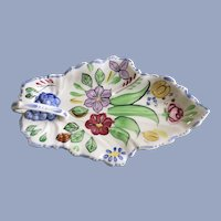 Blue Ridge Southern Pottery China Summertime Leaf Celery Dish