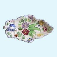 Blue Ridge Southern Pottery China Summertime Leaf Celery Dish