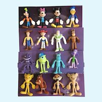 Bendin' Friends Disney Characters Mickey Lion King Toy Story Figures