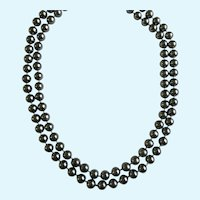Metallic Silver-Tone Beaded Necklaces Endless