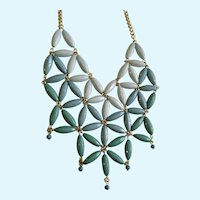 Star Burst Cascading Blue Green Necklace