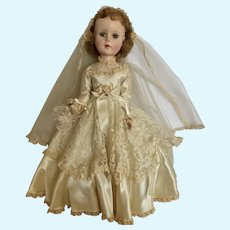 "Sweet Sue Bride Doll Walker with Sleepy Eyes Bridal American Character 20"" 1950's"