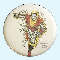 Marvel Comics Group Colossus #7 X-Men Series A Peter 1984 Pin