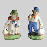 Vintage Dutch Boy and Girl Figurines Japan