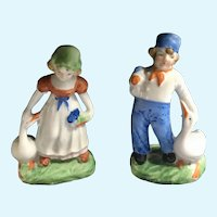 Vintage Dutch Boy and Girl Figurines Japan