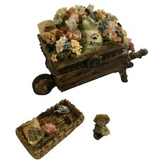 Miss Bloomengrows with Gardener McNibble Boyds Bear and Friends Trinket Box