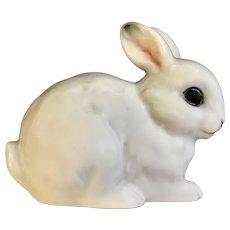 Enesco White Bunny Rabbit Miniature Porcelain Figurine