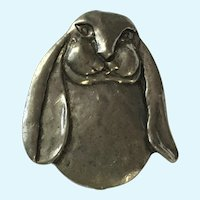 Pewter Bunny Rabbit Pin Sheridan
