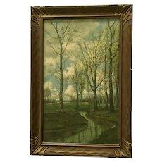 Robert Atkinson Fox, Lush Pasture Scene Edward Gross Co. Lithograph Print