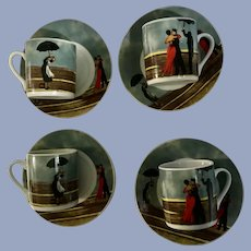 The Singing Butler Jack Vettriano Demitasse Cup & Saucer Sets