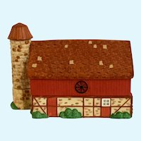 Red Barn Trinket Box Figi's Gifts Collectable Ceramic Farm Country