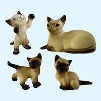 Vintage Hagen Renaker Siamese Cats California Pottery Figurines