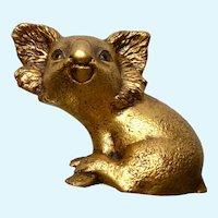 Mid-Century Freeman McFarlin Koala Bear Gold Leaf R Hetrick Figurine