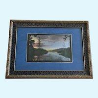 Searoy, 1928 Hand Tinted Photograph Lake Electra Colorado
