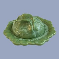 Cabbage Cheese Butter Covered Dish 1969 Holland Mold