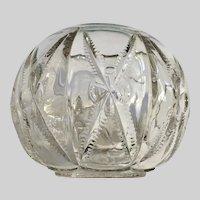 Vintage Pressed Glass Round Vase Bowl