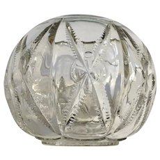Vintage Pressed Glass Round Vase Bowl