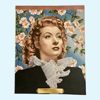 Greer Garson Metro Goldwyn Mayer Pictures Movie Star Note Pad