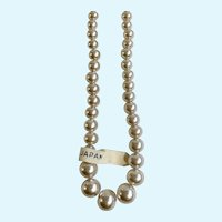 Faux Pearl Beaded Necklace Japan