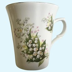 St George Lily of the Valley Coffee Cup Fine Bone China England