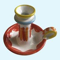 La Musa Art Pottery Candlestick Italy Ceramic